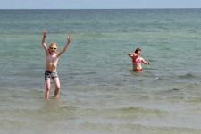 Die Bedingungen für Kinder sind an Bornholms Stränden in den meisten Fällen ideal