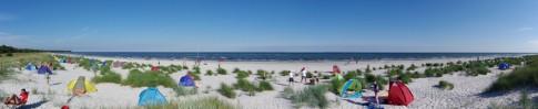 Dueodde Strand Strandleben Panorama