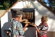 Räucherofen auf Bornholms Familiecamping Dueodde