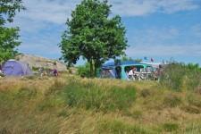 Stellplatz mit Meerblick auf Sandvig Familie Camping