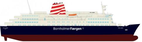 Fähre Povl Anker in typischen Reederei Farben ab Ende November 2012