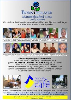 Plakat Bornholmer Märchenfestival 2014