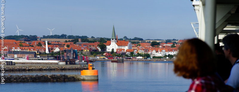 Endlich: Einlaufen in Rønne