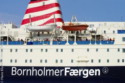 Ankunft nach erholsamen 4 Stunden Überfahrt in Rønne