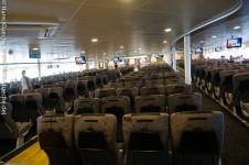Wie im Flugzeug nur mehr Sitze und mehr Platz: Ruhesessel auf der Leonora Christina
