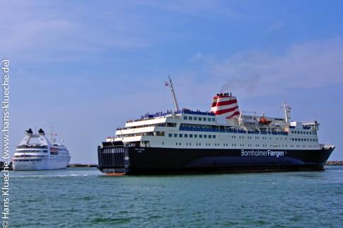 Kreuzfahrtschiff oder Fähre - eine Reise nach Bornholm ist (fast) immer auch eine Seereise