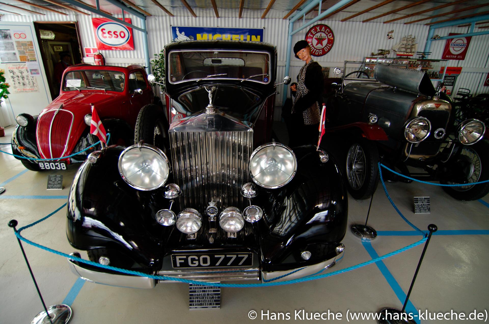 Rolls-Royce Sports Saloon von 1938 in Bornholms Automobilmuseum von Aakirkeby