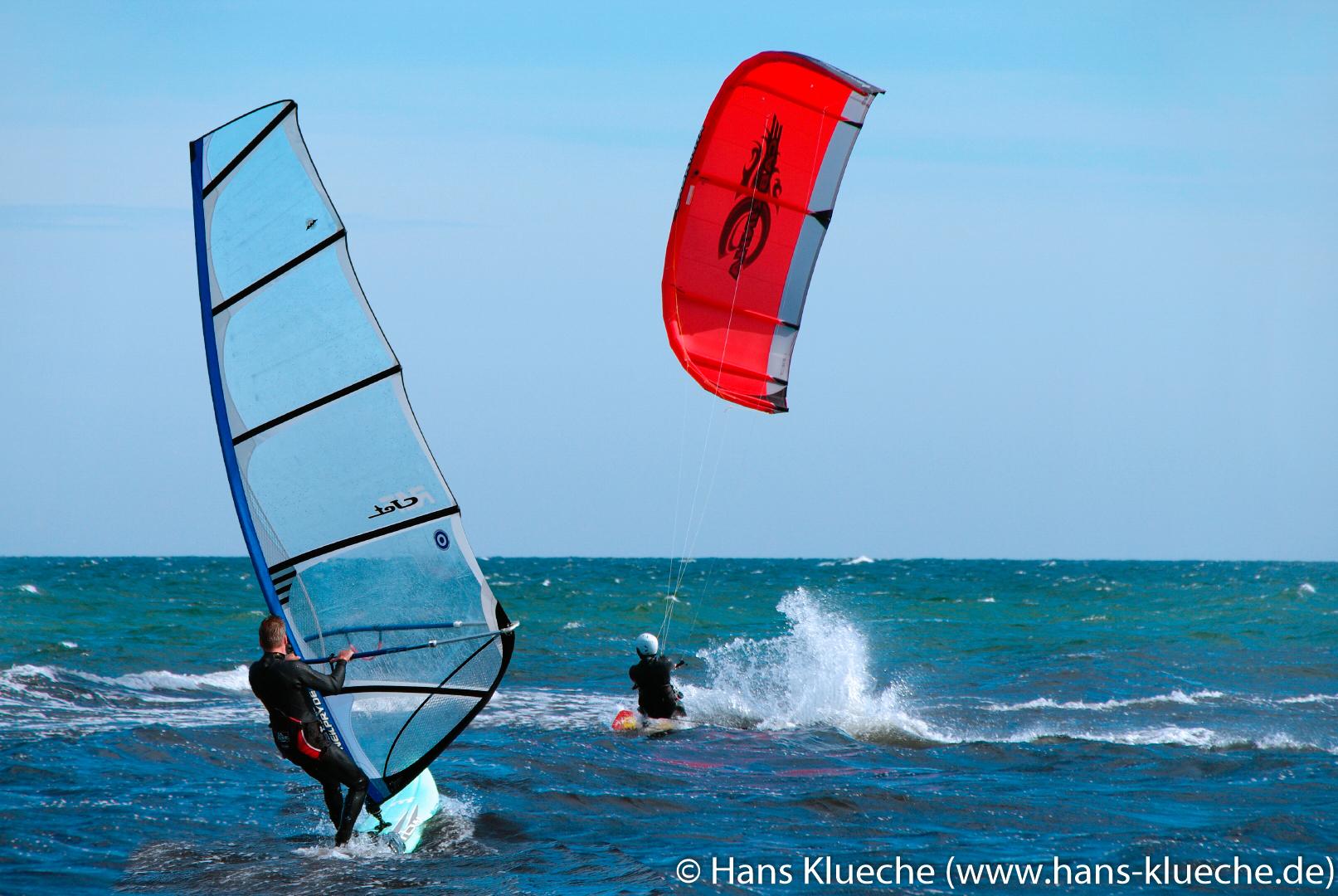 Windsurfer auf Bornholm