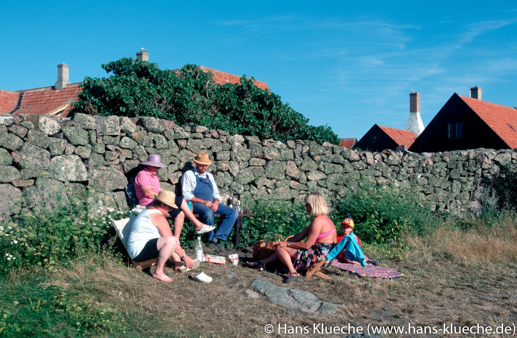Festungsinsel Christiansø gehört zu Inselgruppe Ertmolmene nordöstlich von Bornholm: Mittagspause