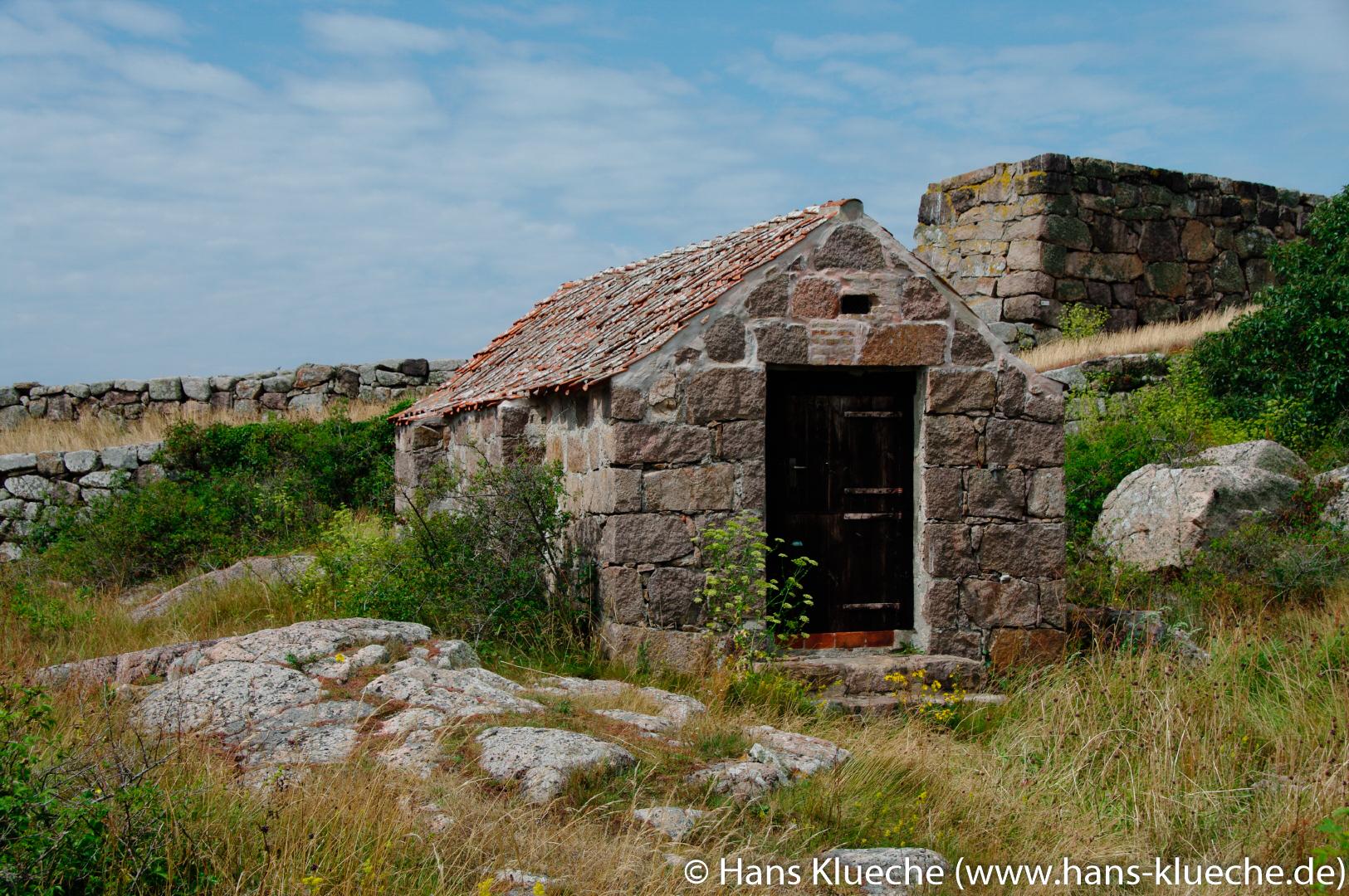 Festungsinsel Christiansø gehört zu Inselgruppe Ertmolmene nordöstlich von Bornholm: Gärten