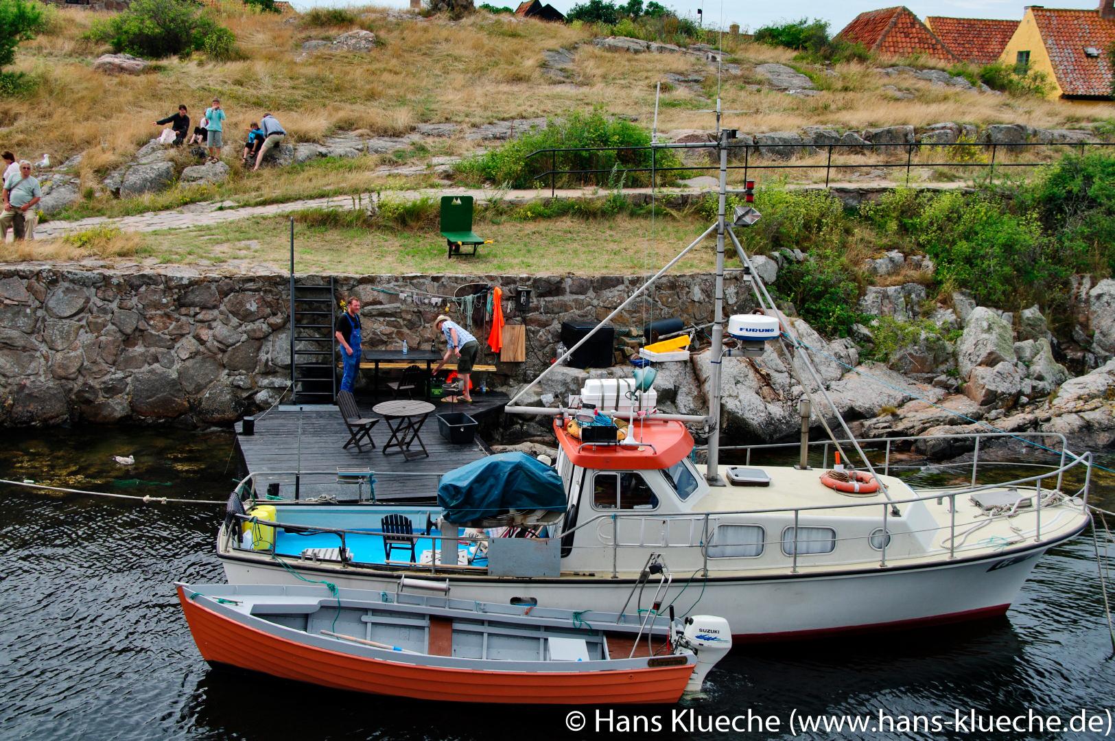 stungsinsel Christiansø gehört zu Inselgruppe Ertmolmene nordöstlich von Bornholm: Hafen