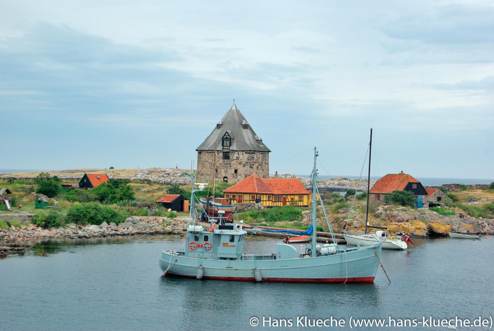 Die Festungsinsel Christiansø gehört zu Inselgruppe Ertmolmene nordöstlich von Bornholm: Hafen