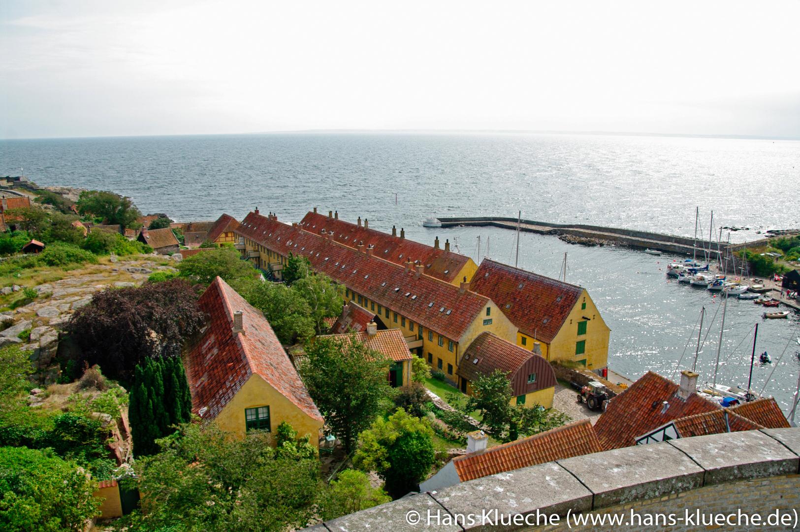 Die Festungsinsel Christiansø gehört zu Inselgruppe Ertmolmene nordöstlich von Bornholm: Alte Kasernen.
