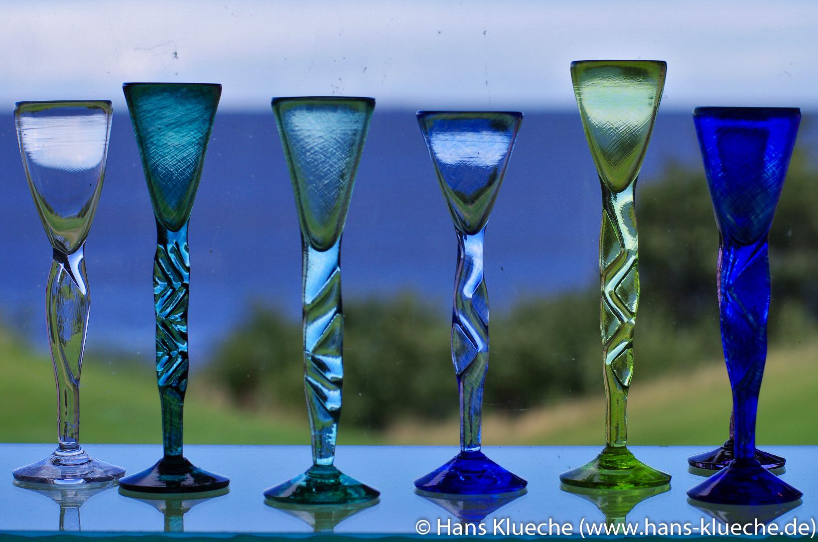 Glasarbeiten von Baltic Sea Glas bei Gudhjem