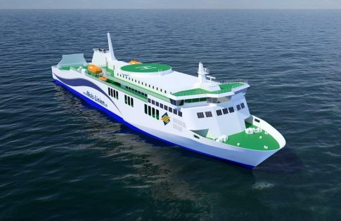 So soll die neue Bornholm-Fähre von Mols-Linien aussehen Foto: © Rauma Marine Constructions