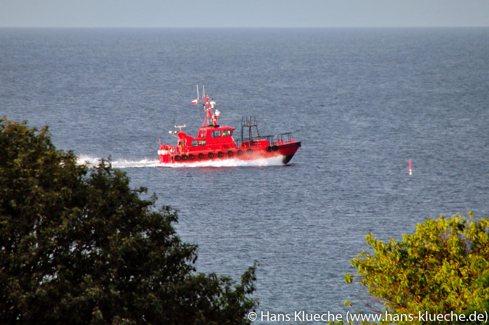 Lotsenboot vor Hammeren