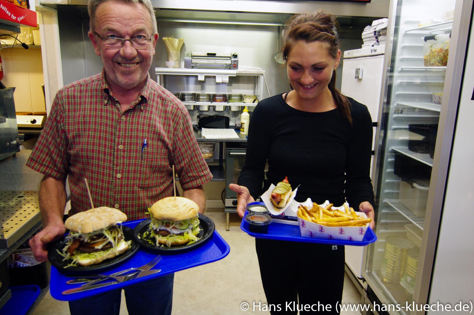 Burger im Promenade Kiosken Sandvig